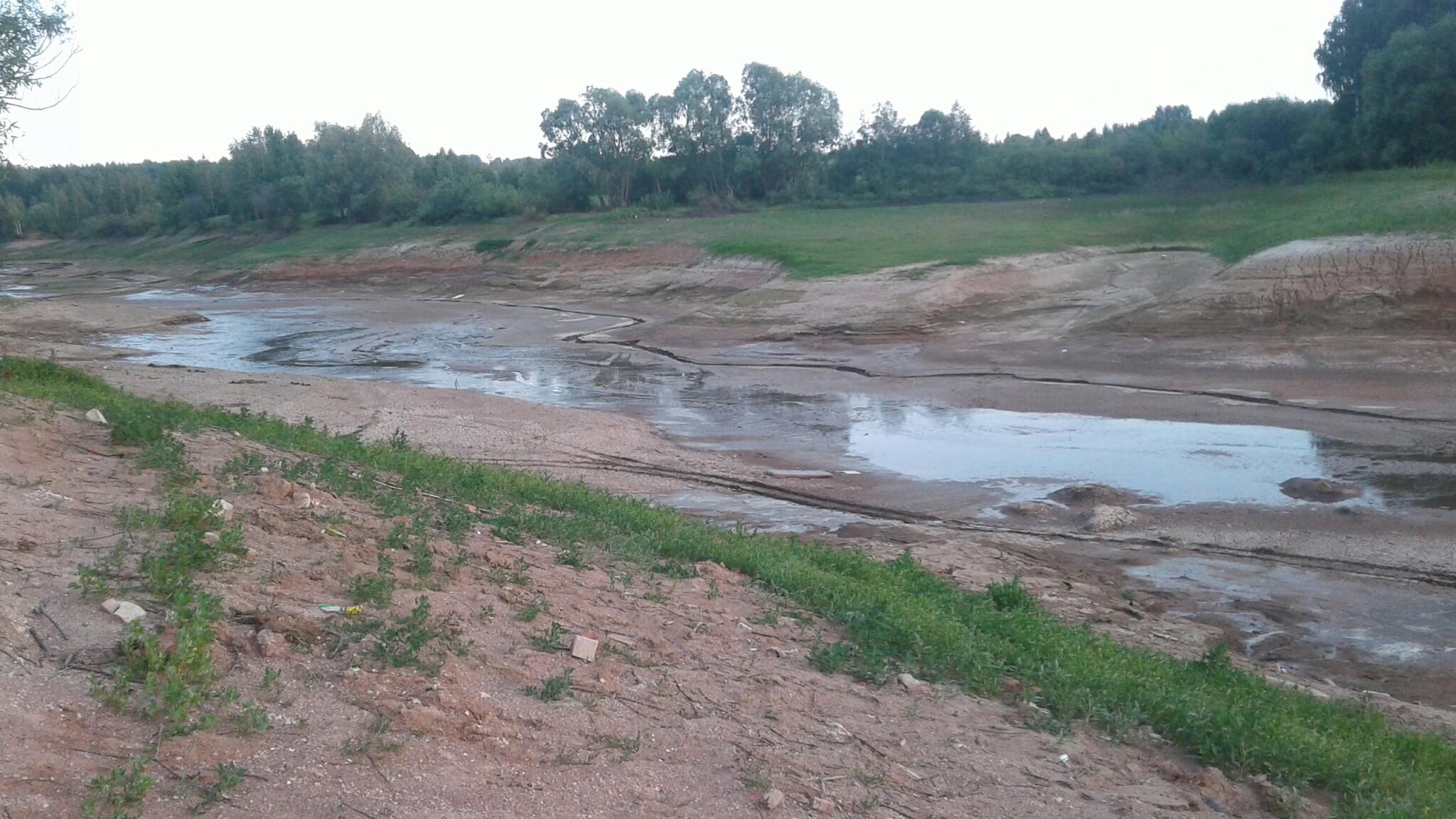 Так озеро Чебакса выглядело еще три недели назад.