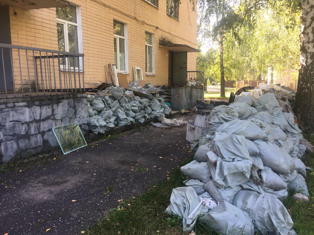 В бывшей 53-й школе продолжается ремонт.