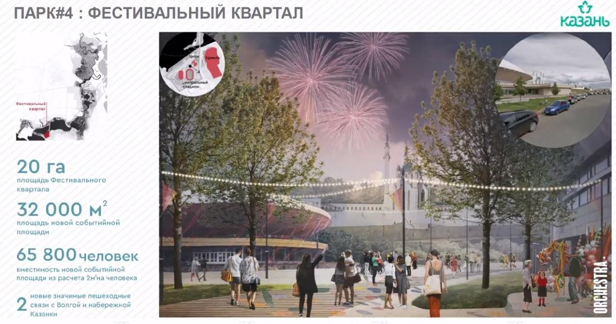 Фестивальный квартал будет создан и на территории со стороны Центрального стадиона Казани.