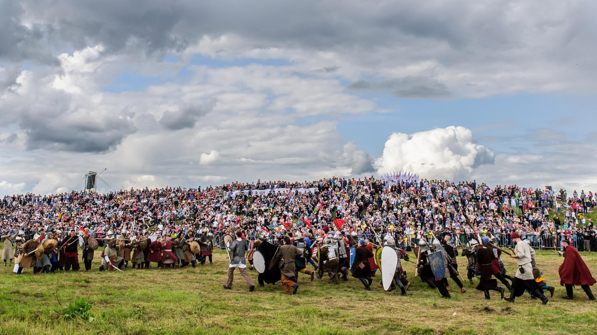 Военно-исторический фестиваль «Великое стояние на реке Угре» в 2019 году.