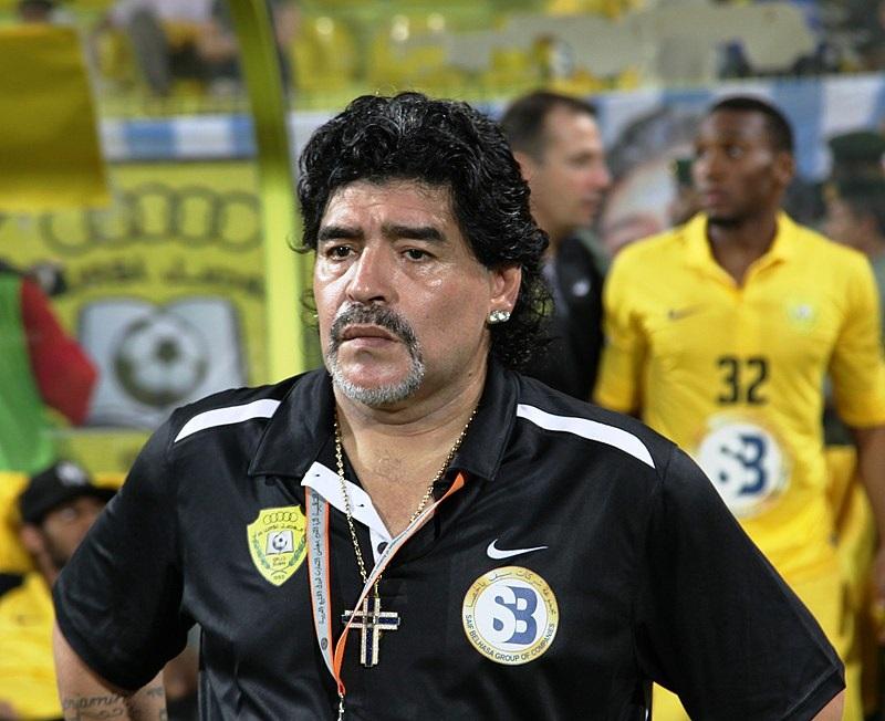 Diego Maradona at 2012 GCC Champions League final