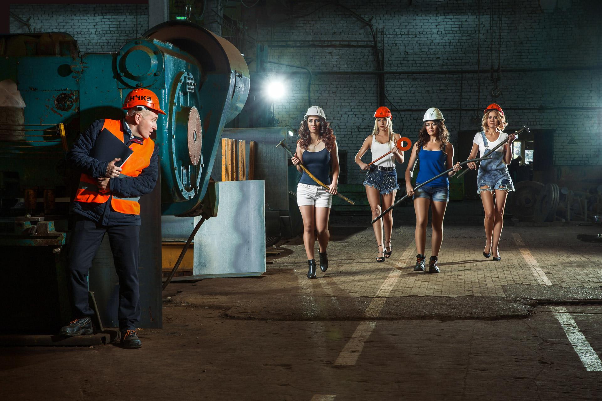 набережночелнинский крановый завод фотосессия единственный человек