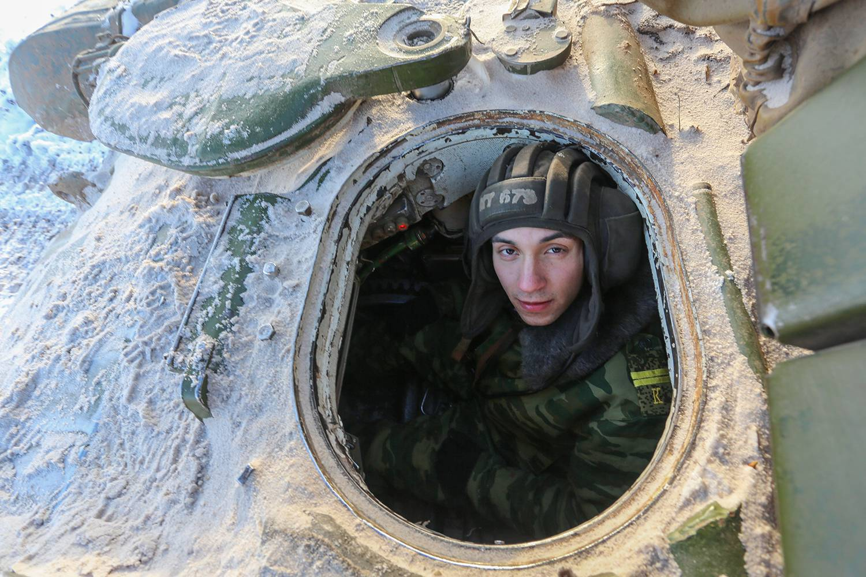 Боевые стрельбы курсантов Казанского высшего военного командного училища