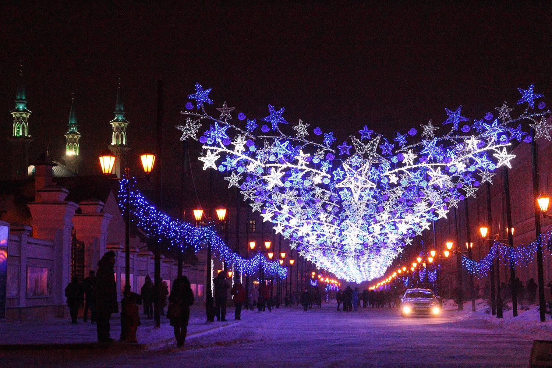 Зимние украшения в Каханском кремле