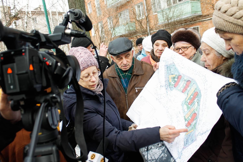 Митинг на Новаторов против строительства новых домов
