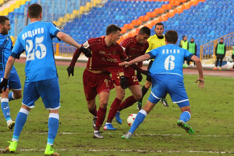 Матч «Рубин» - «Сибирь» на Центральном стадионе