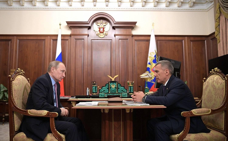 Встреча с Минтимером Шаймиевым  Президент России