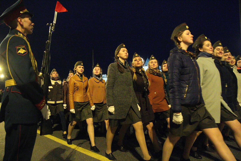 Генеральная репетиция Парада Победы года в
