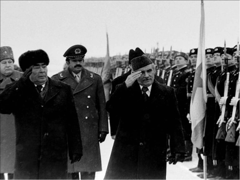 Леонид Брежнев и Нур Мохаммад Тараки
