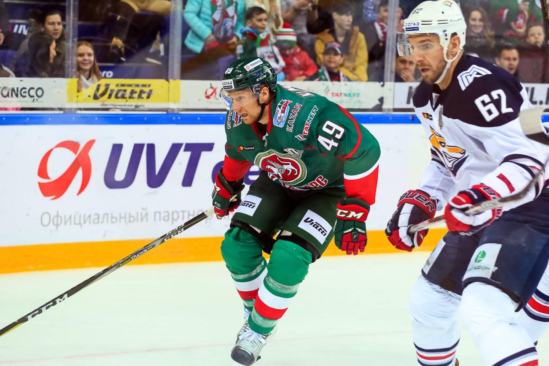 «АкБарс» проиграл «Металлургу» впервом матче серии плей-офф КХЛ