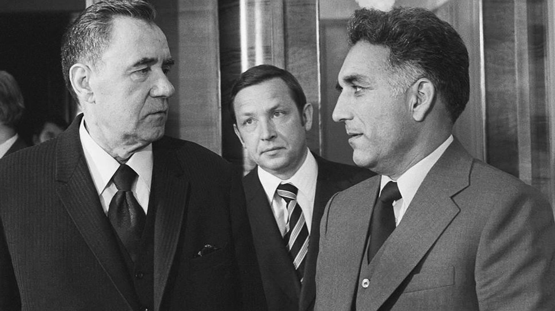 Министр Иностранных дел СССР Андрей Громыко и Хафизулла Амин
